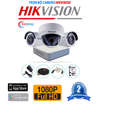 Bộ 4 camera Hikvision 2MP DS-2CE56D0T-IRP