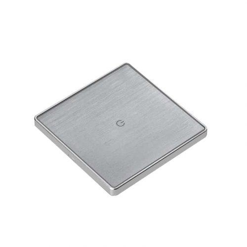 Công tắc bật tắt đèn thông minh 1 nút hình vuông vân gỗ xám