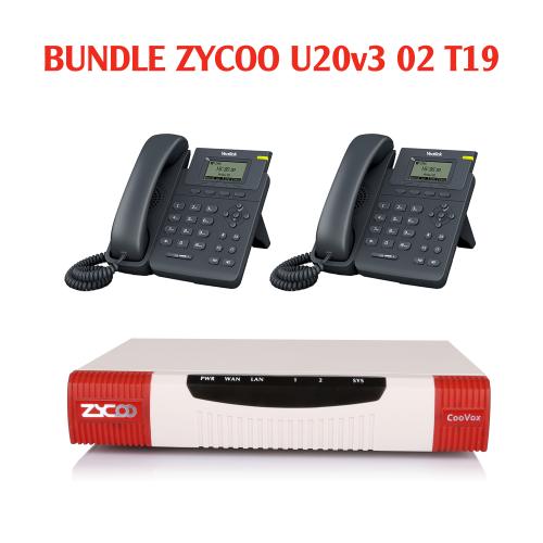 Trọn bộ tổng đài Bundle Zycoo và 02 điện thoại IP Yealink T19-E2